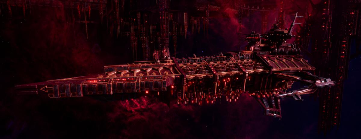 Chaos Battleship - Desolator (Red Corsairs Sub-Faction)