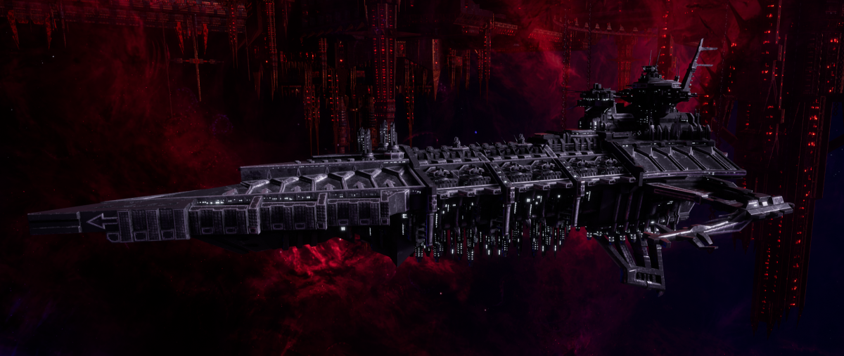 Chaos Battleship - Desolator (Iron Warriors  Sub-Faction)