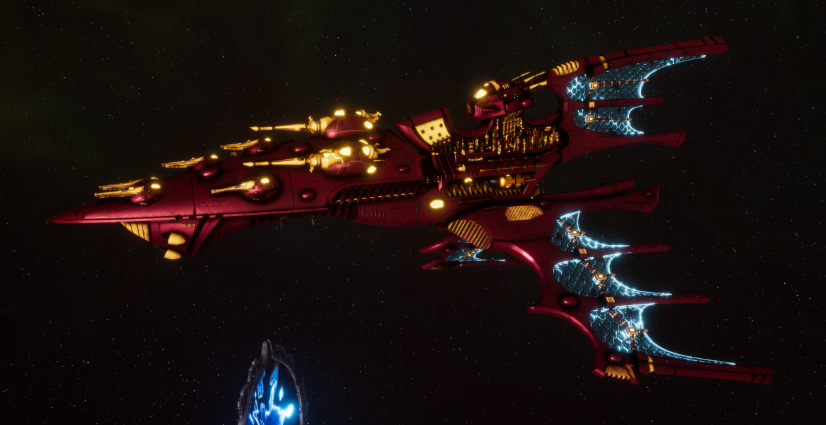 Aeldari Corsair Cruiser - Vaul [Twilight Sword - Sub-Faction]