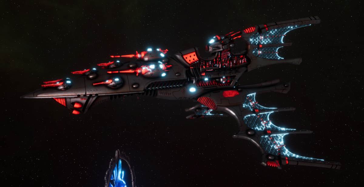 Aeldari Corsair Cruiser - Vaul [Void Dragon - Sub-Faction]