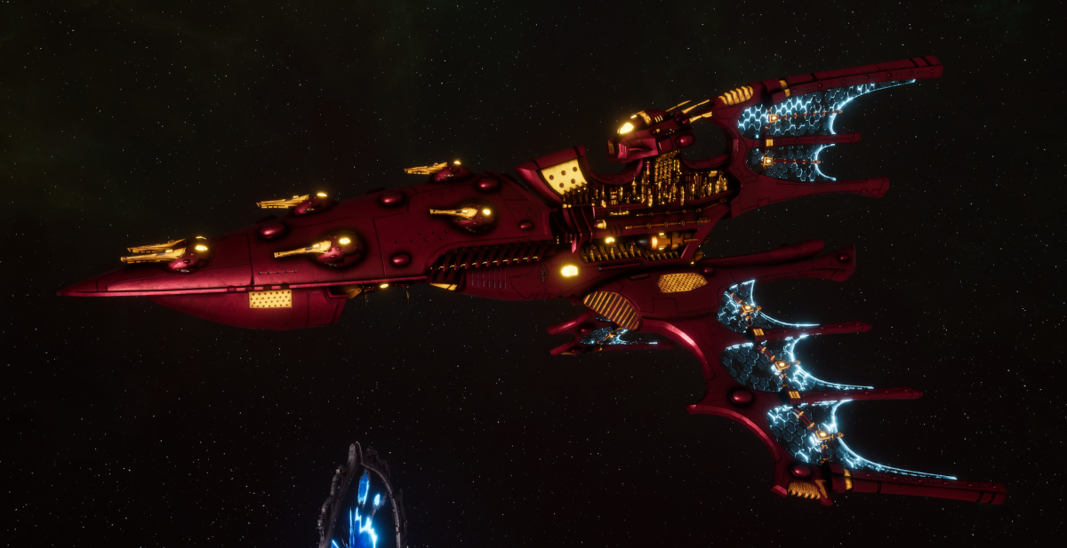 Aeldari Corsair Cruiser - Kurnous [Twilight Sword - Sub-Faction]