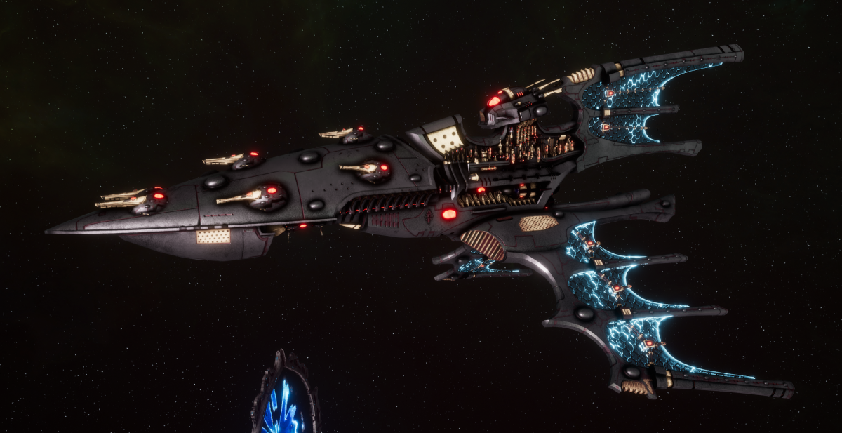 Aeldari Corsair Cruiser - Kurnous [Steeleye Reavers - Sub-Faction]