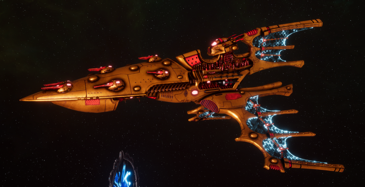 Aeldari Corsair Cruiser - Kurnous [Sun Blitz - Sub-Faction]