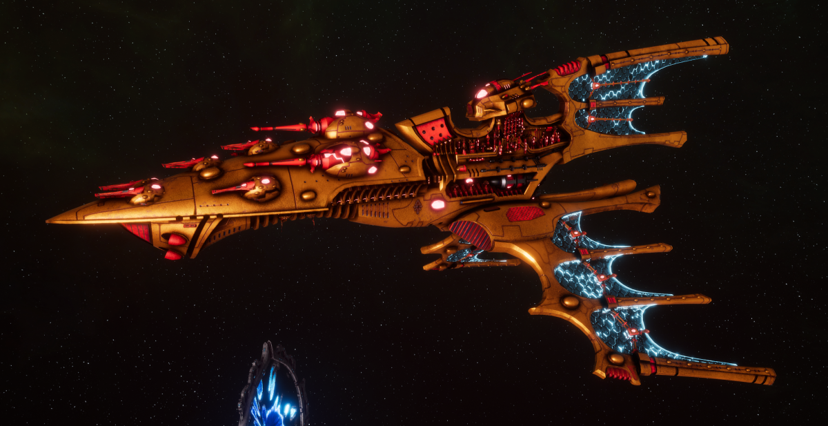 Aeldari Corsair Cruiser - Vaul [Sun Blitz - Sub-Faction]