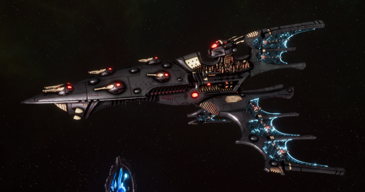 Aeldari Corsair Cruiser - Shadow [Steeleye Reavers - Sub-Faction]