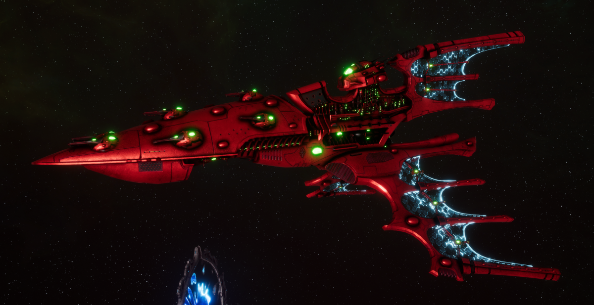 Aeldari Corsair Cruiser - Kurnous [Ynnari - Sub-Faction]