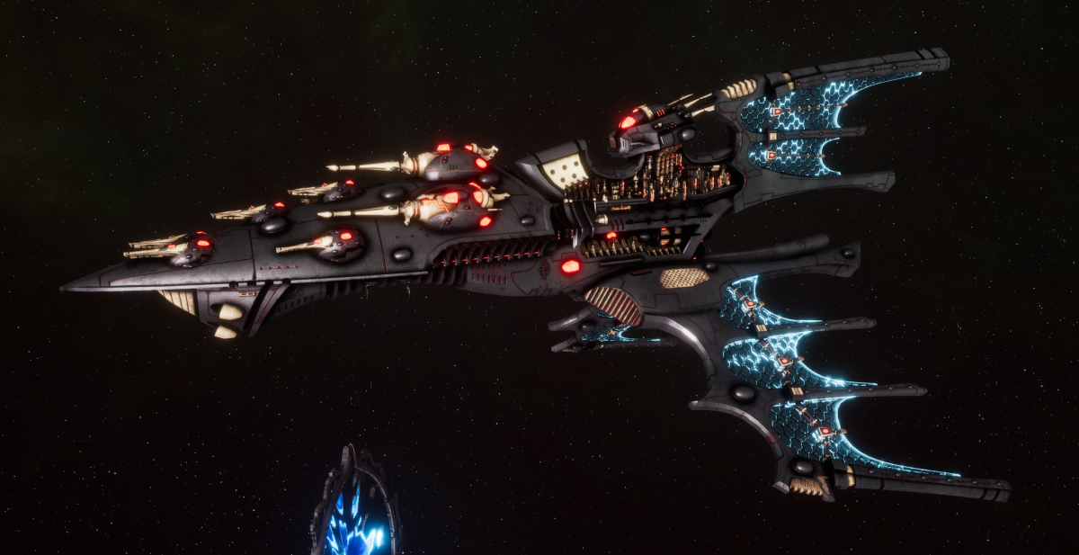 Aeldari Corsair Cruiser - Vaul [Steeleye Reavers - Sub-Faction]