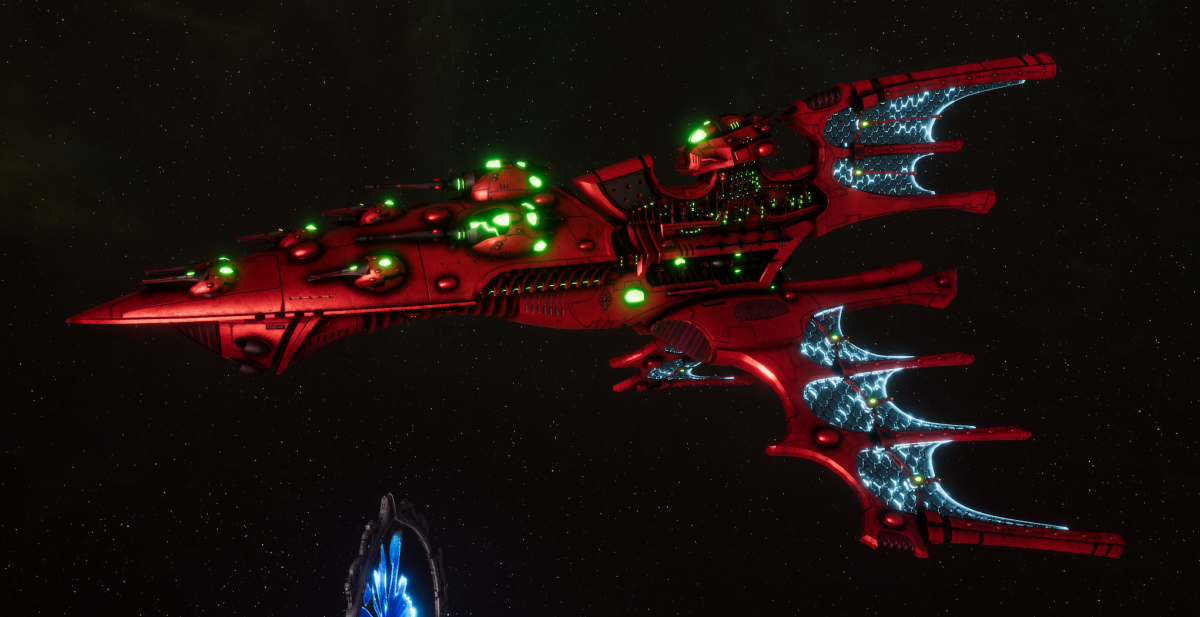 Aeldari Corsair Cruiser - Vaul [Ynnari - Sub-Faction]