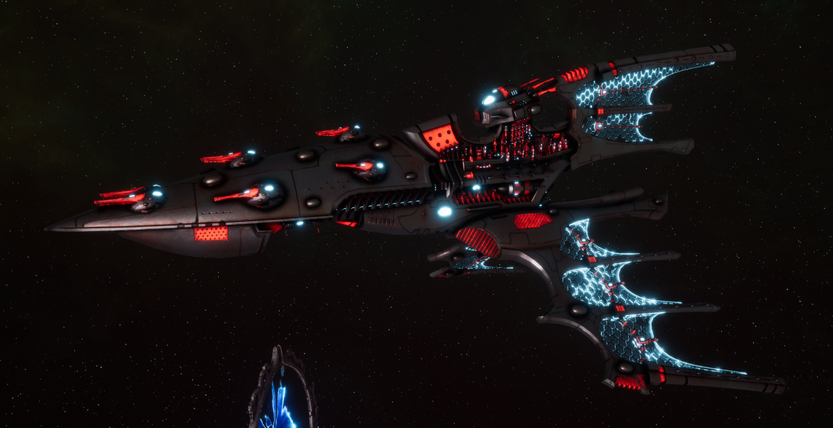 Aeldari Corsair Cruiser - Kurnous [Void Dragon - Sub-Faction]