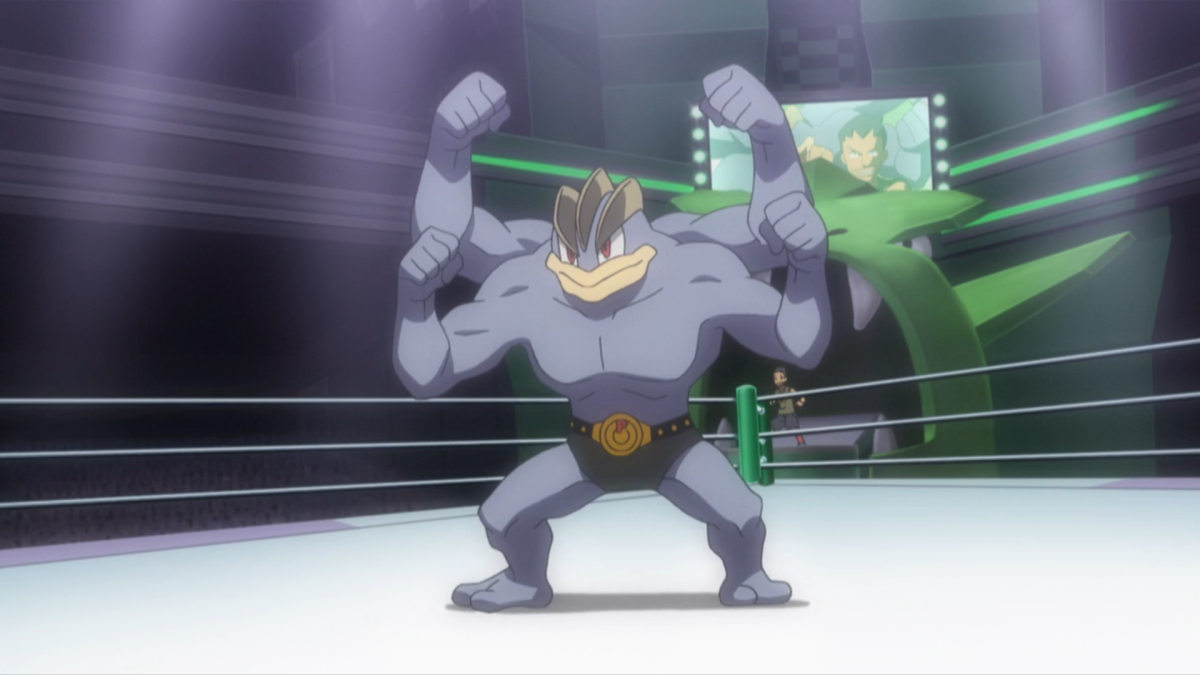 Machamp is a fighting-type superpower Pokemon. Try giving it a nickname that represents a sport like wrestling.