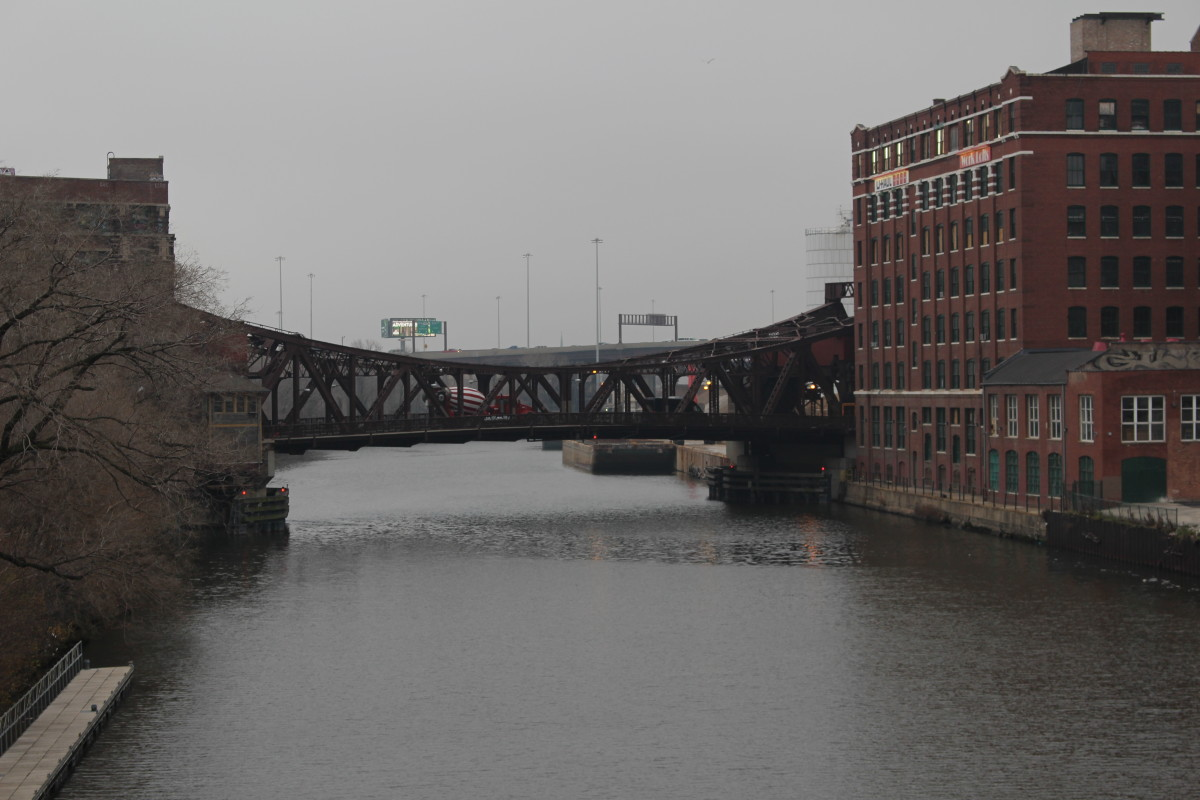 Cermak Bridge from Canal Street Bridge.
