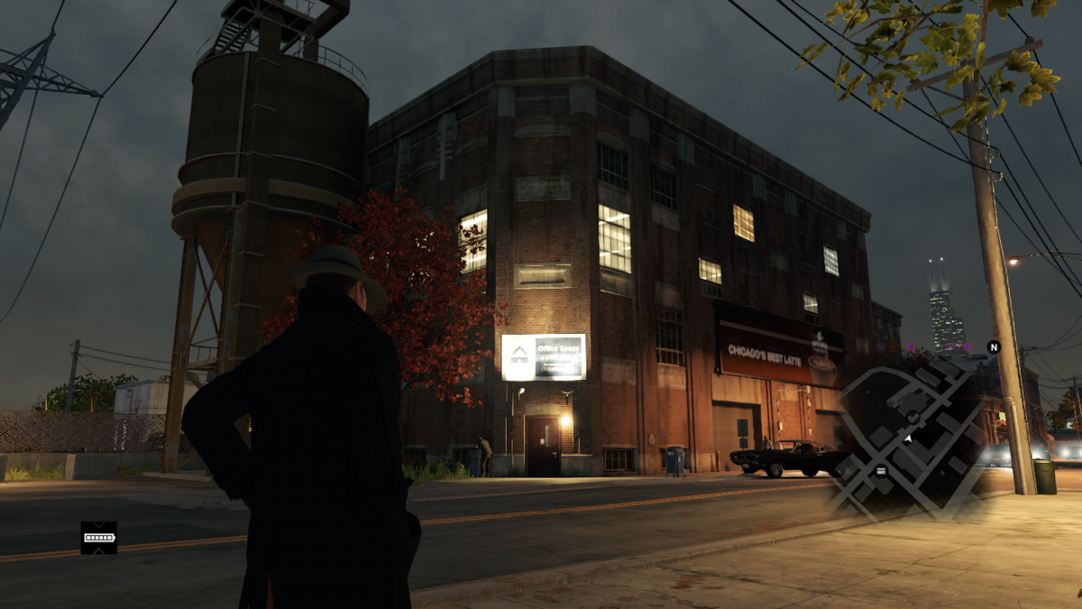 The version in game is depicted as a corner building. In real life the former location of The Four Deuces is a bit down the street from Cermak Road.