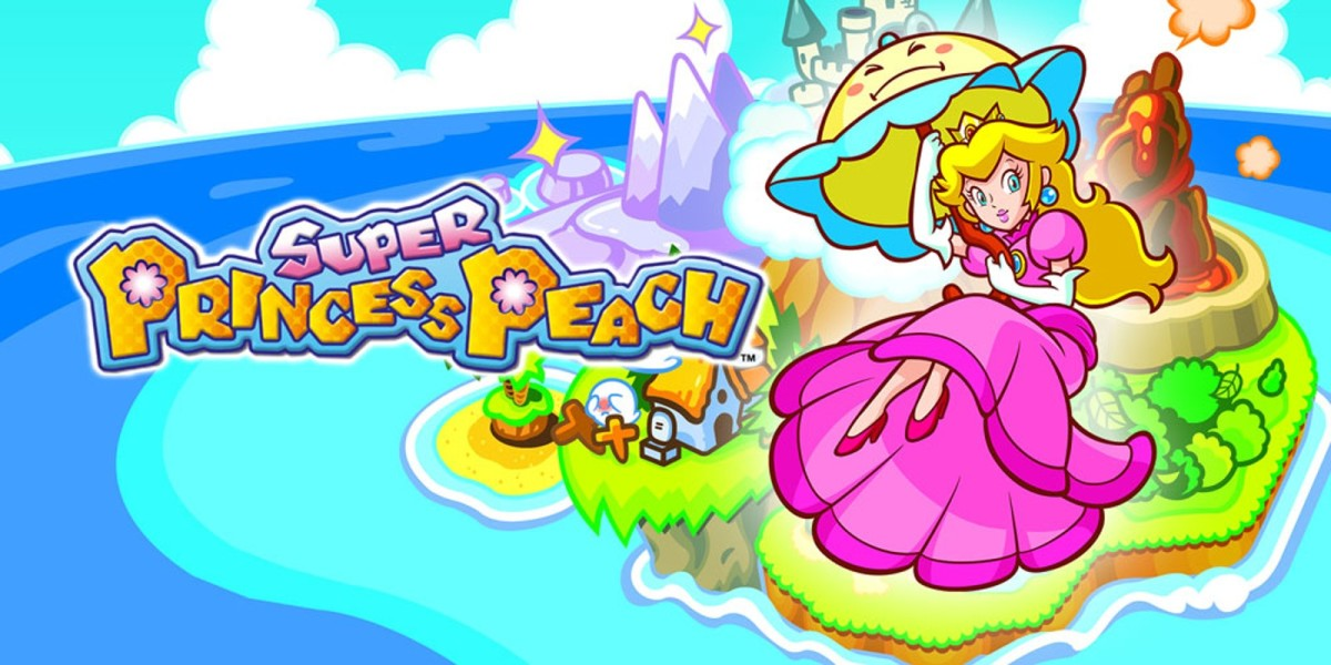 "Promotional artwork for ""Super Princess Peach."""