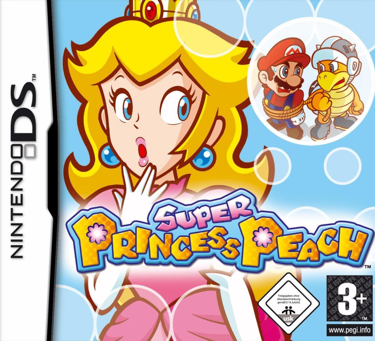 """Box art for """"Super Princess Peach."""""""