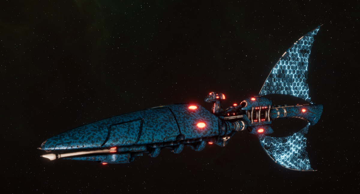 Asuryani Light Cruiser - Firestorm Wraithship [Alaitoc - Eldar Sub-Faction]