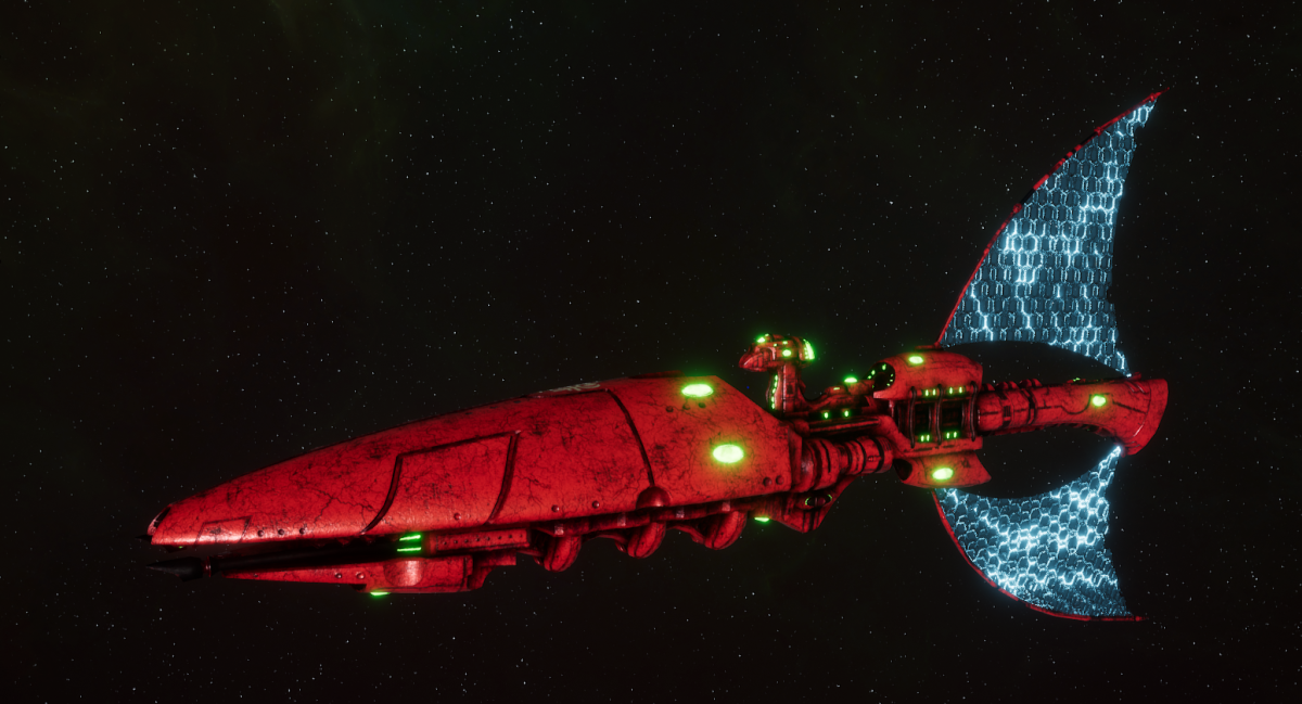 Asuryani Light Cruiser - Firestorm Wraithship [Ynnari - Eldar Sub-Faction]