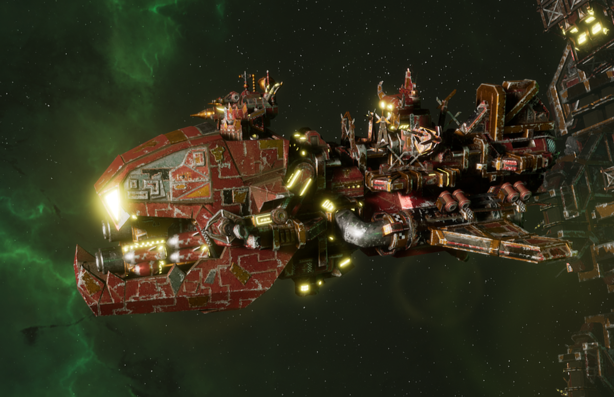 "Ork Attack Ship - ""Ravager"" - [Ork Pirates Sub-Faction]"