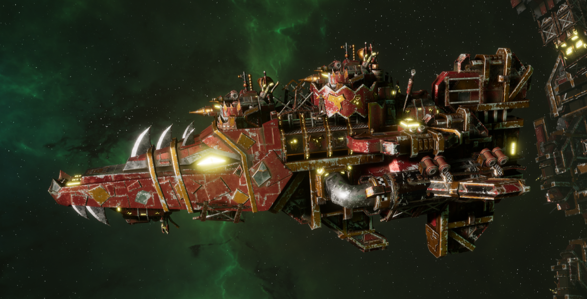 "Ork Attack Ship - ""Onslaught"" - [Ork Pirates Sub-Faction]"