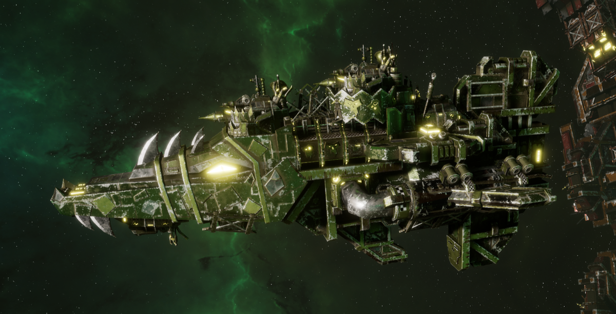 "Ork Attack Ship - ""Onslaught"" - [Blood Axes Sub-Faction]"