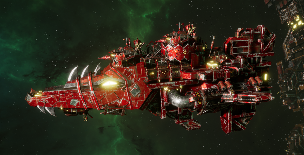 "Ork Attack Ship - ""Onslaught"" - [Evil Sunz Sub-Faction]"