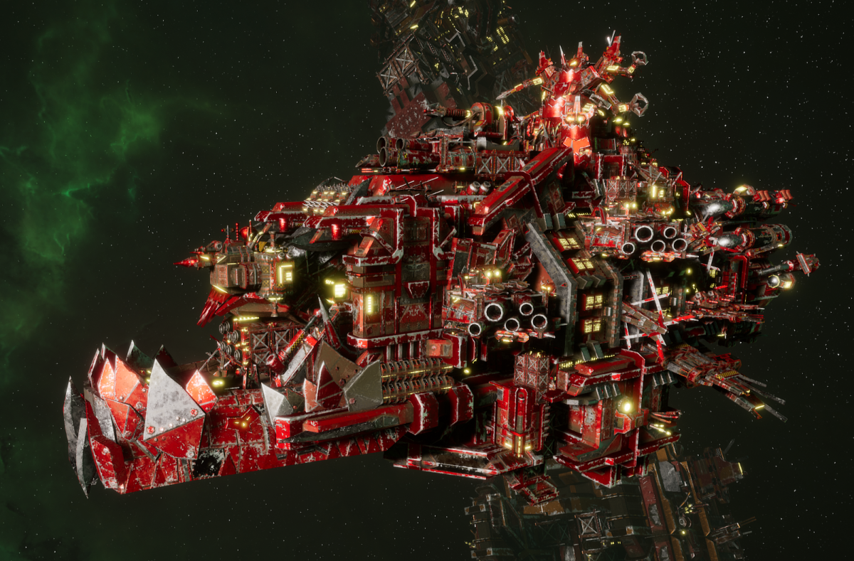 "Ork Battleship - ""Deadnot Urd Unki"" - [Evil Sunz Sub-Faction]"