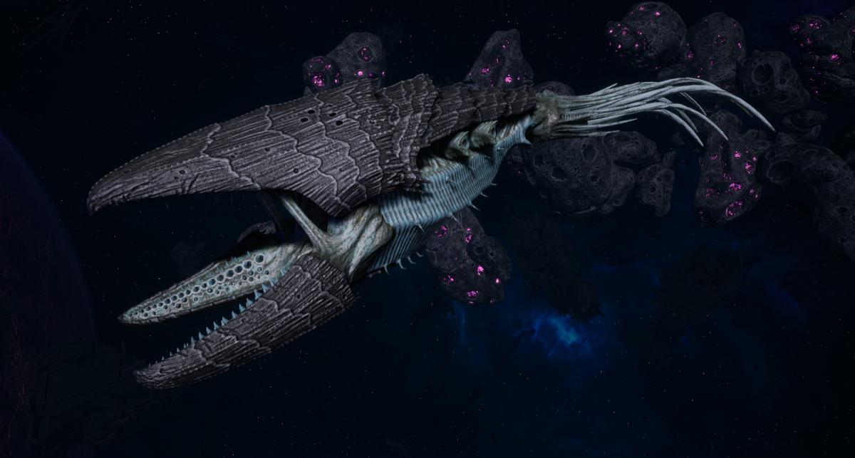 "Tyranid Light Cruiser - ""Bio Clutch Voidprowler"" - [Ouroboris Sub-Faction]"