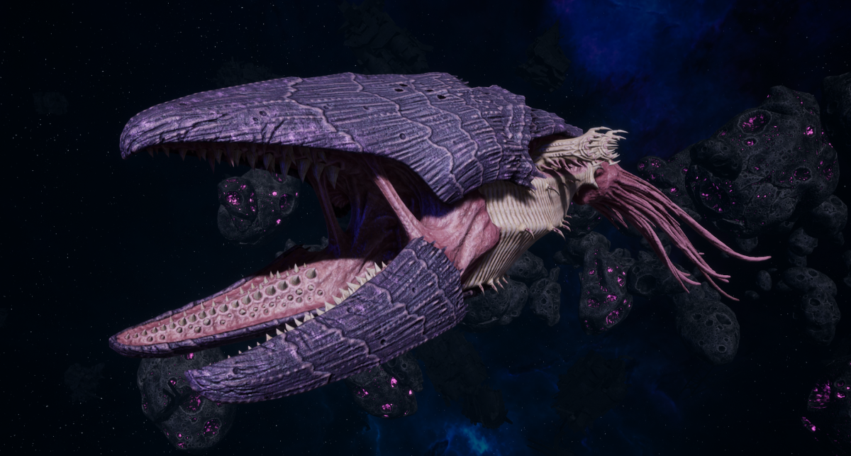 """Tyranid Light Cruiser - """"Corrosive Clutch Voidprowler"""" - [Leviathan Sub-Faction]"""