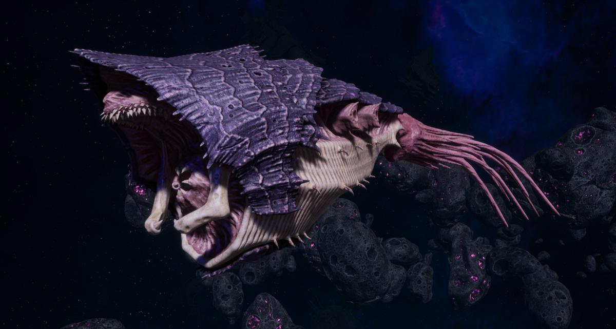 "Tyranid Light Cruiser - ""Bio Strangler Voidprowler"" - [Leviathan Sub-Faction]"