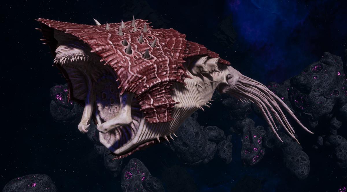 """Tyranid Light Cruiser - """"Bio Projectile Voidprowler"""" - [Kraken Sub-Faction]"""