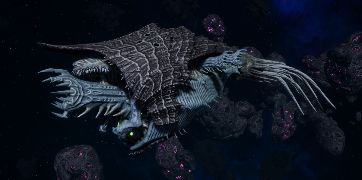 "Tyranid Light Cruiser - ""Acid Voidprowler"" - [Ouroboris Sub-Faction]"