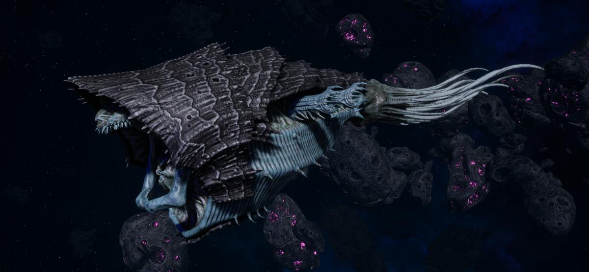 "Tyranid Light Cruiser - ""Corrosive Strangler Voidprowler"" - [Ouroboris Sub-Faction]"