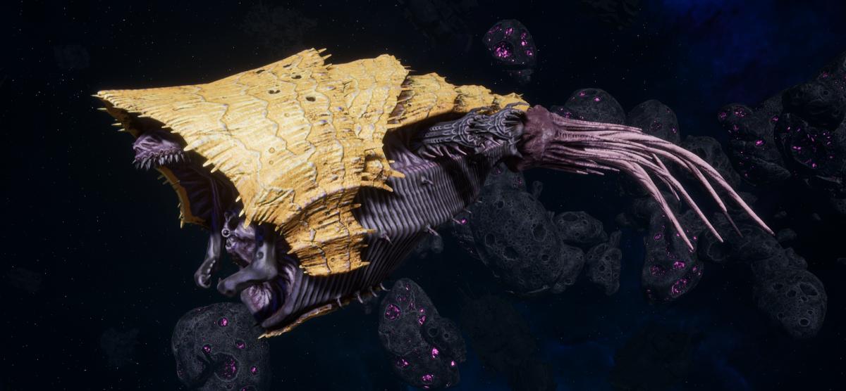 """Tyranid Light Cruiser - """"Corrosive Strangler Voidprowler"""" - [Jormungandr Sub-Faction]"""