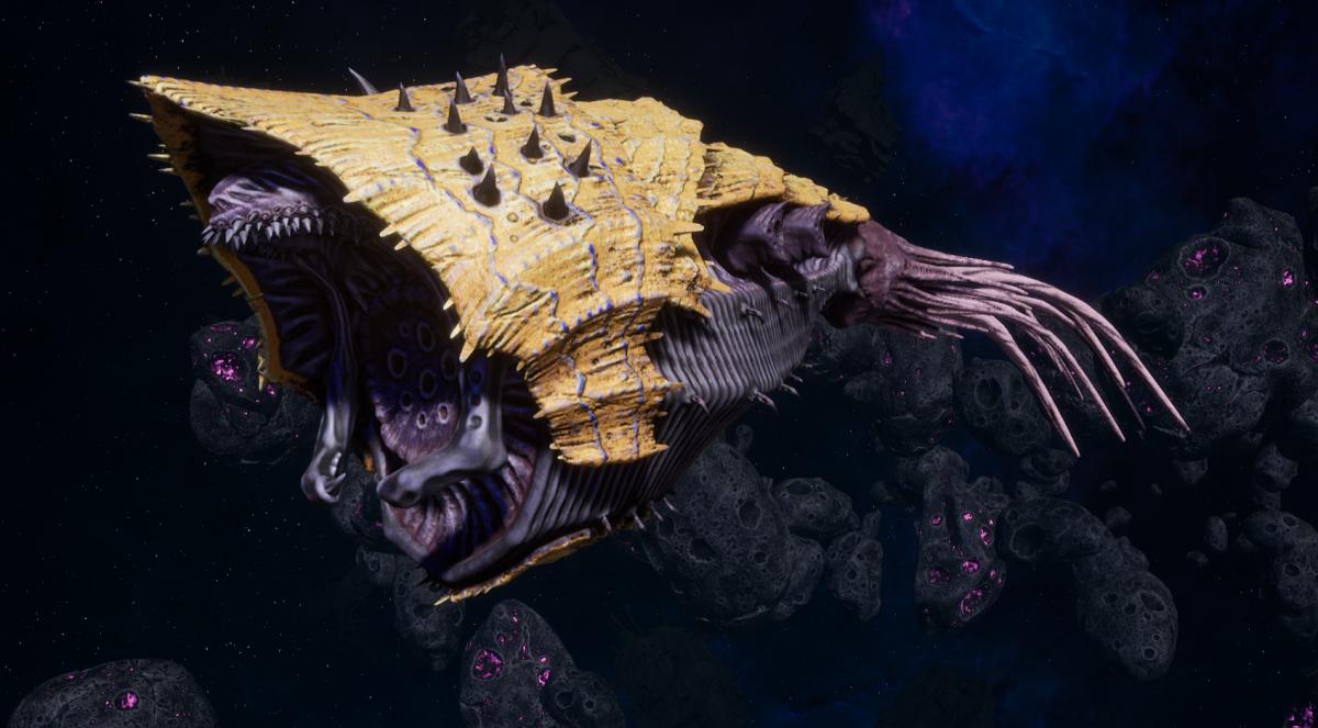 "Tyranid Light Cruiser - ""Bio Projectile Voidprowler"" - [Jormungandr Sub-Faction]"