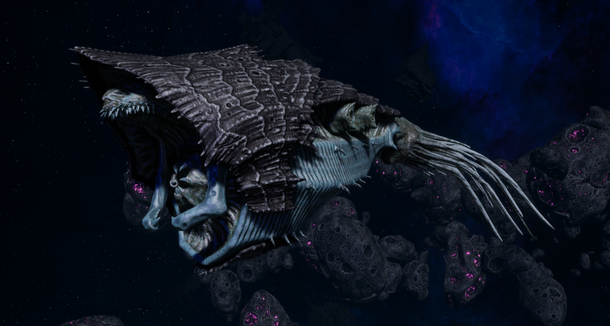 "Tyranid Light Cruiser - ""Bio Strangler Voidprowler"" - [Ouroboris Sub-Faction]"