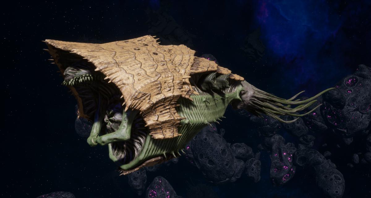 "Tyranid Light Cruiser - ""Bio Strangler Voidprowler"" - [Gorgon Sub-Faction]"