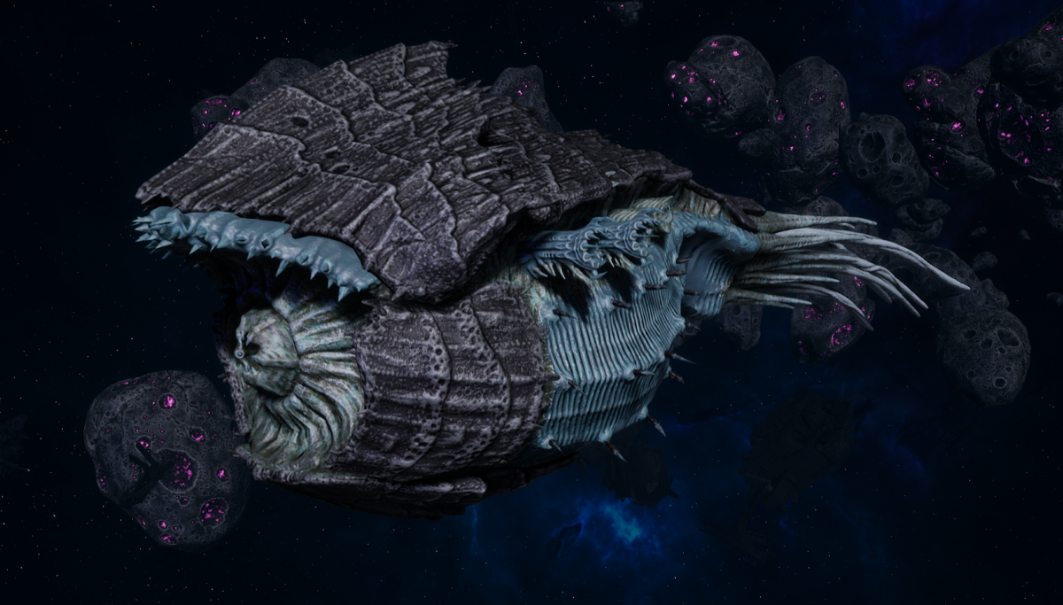"Tyranid Battle Cruiser - ""Corrosive Tentacles Devourer"" - [Ouroboris Sub-Faction]"