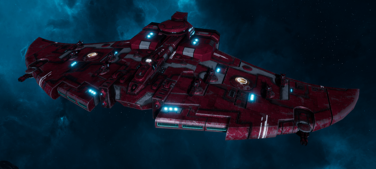 "Tau Protector Fleet Cruiser - Lar'Shi'Vre ""Protector"" T'Olku - [Farsight Enclave Sub-Faction]"
