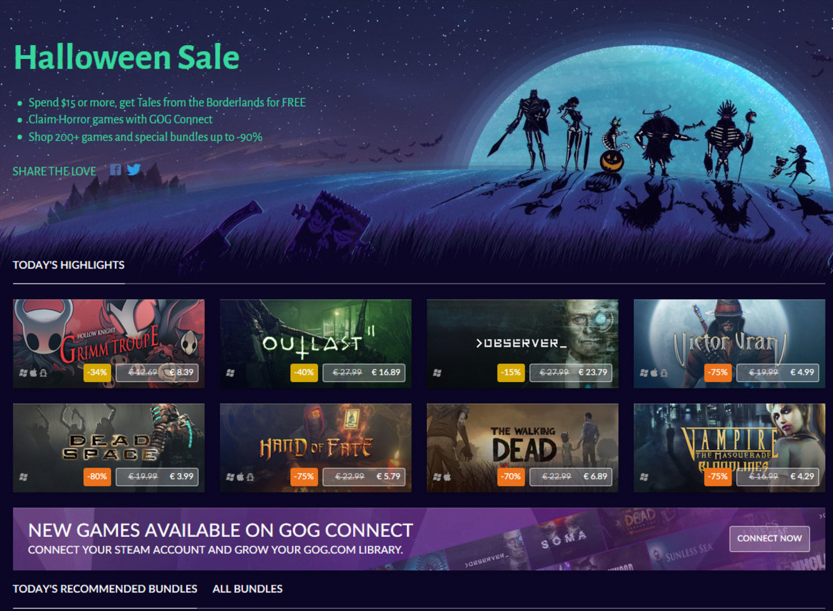 An example of a GOG.com sale.