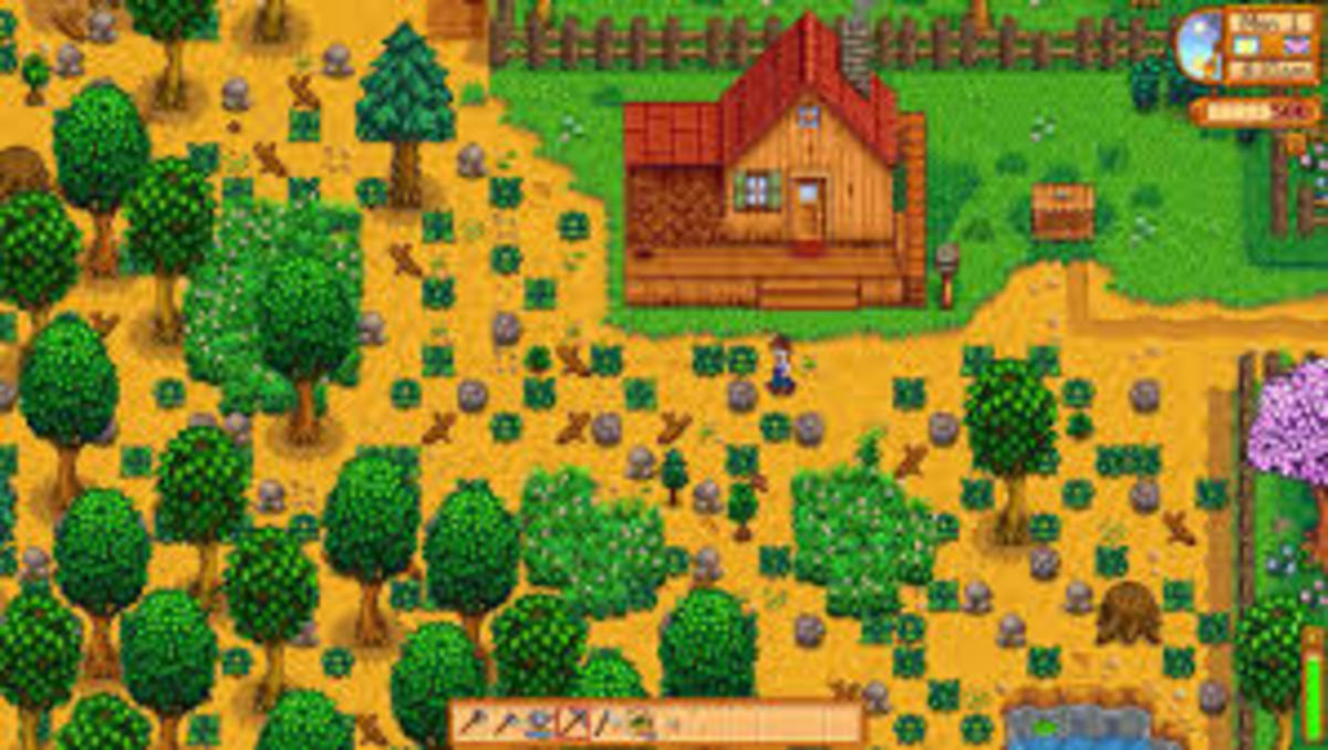 Your farm is a mess! Clean it up and start growing your crops!
