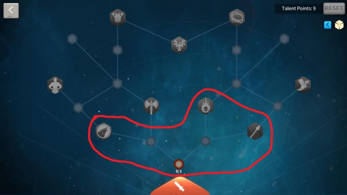 Initial Talents to Unlock in Infantry Talent Tree of Eulji Mundeok Talent Tree Build