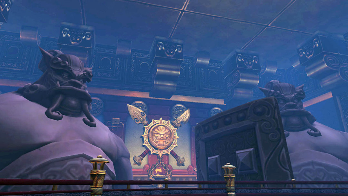 Another attraction of soloing older content is that you can finally appreciate the surroundings at leisure. I never noticed these gigantic statues in Mogu'shan Vaults till soloing the raid.