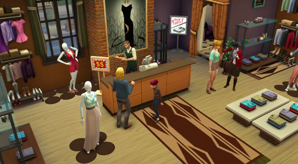 The Sims 4 Retail Business Career