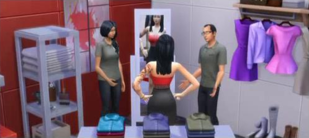 The Sims 4 Retail Employee Job