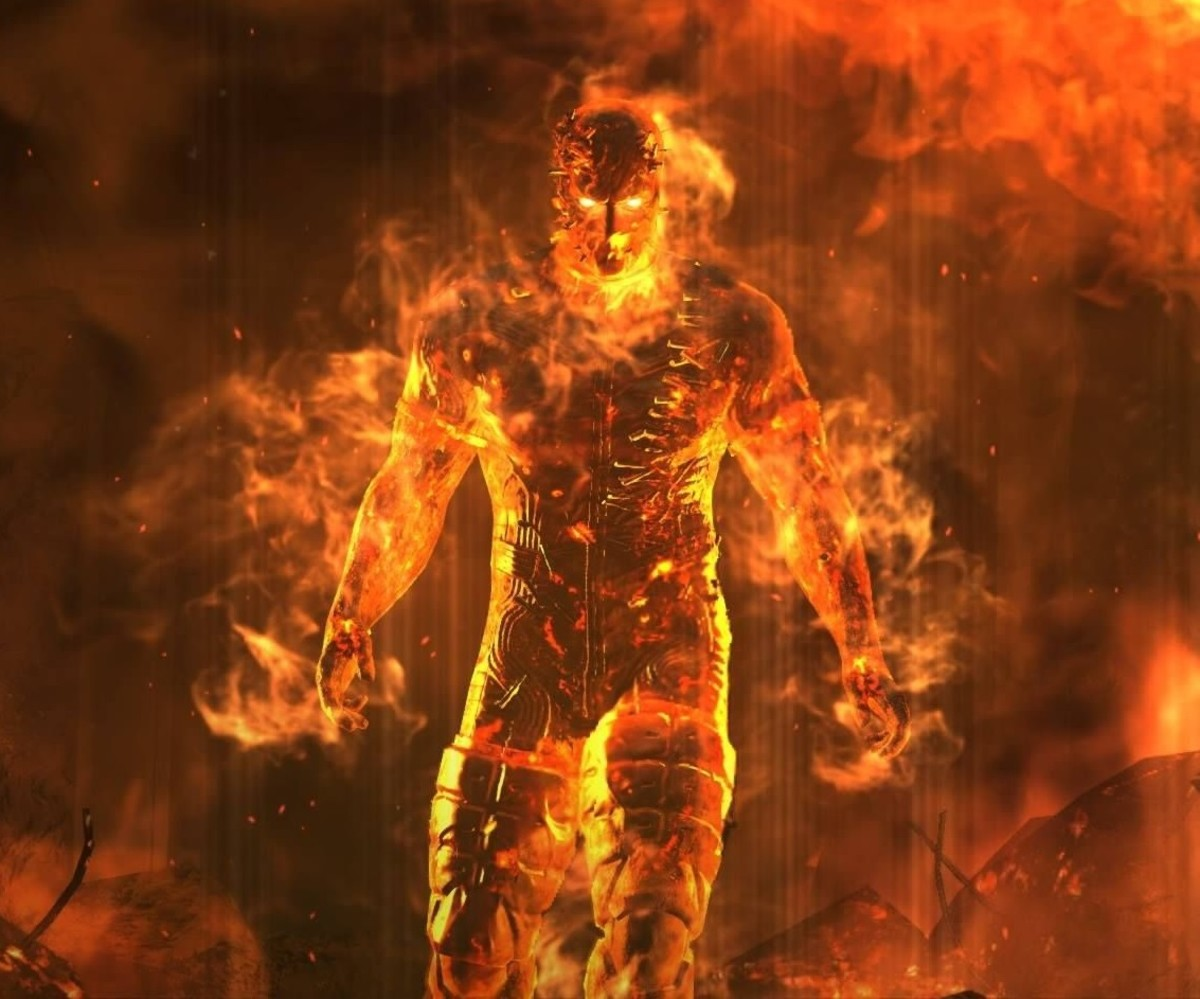 The Man on Fire in Metal Gear Solid 5