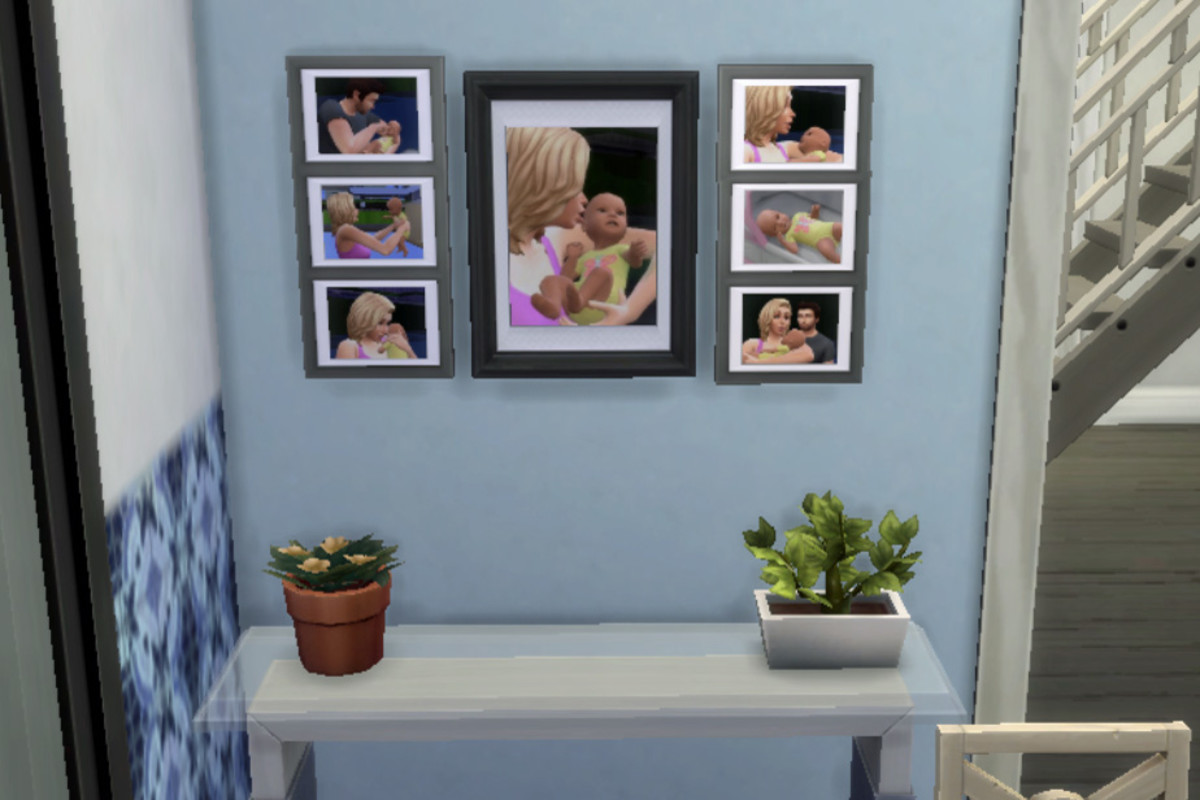 Make your Sims' home homier with baby portraits. It's not that hard to get great shots if you think outside of the box.