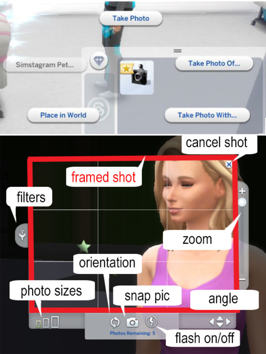 The Crystal Clear Digital Camera is a little more advanced than your Sim' cell phone camera, but easy to learn quickly.