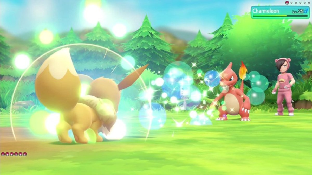 Partner Eevee using Bouncy Bubble