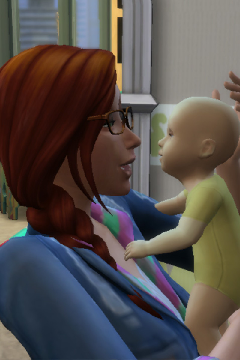 Kinga had to go back to work, leaving work-at-home mom Elyse alone with 10 babies.