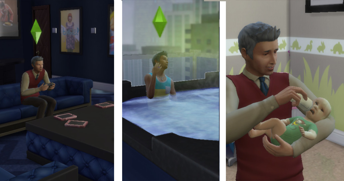 Useless Sims nanny. And the babies never stopped crying.
