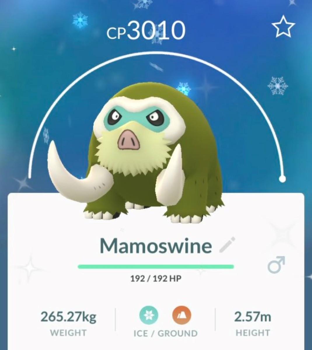 Shiny Mamoswine in Pokemon GO